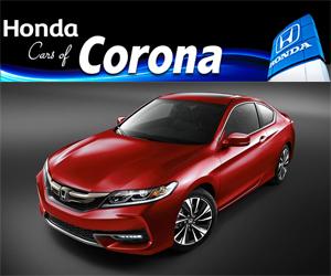 Honda cars of corona honda service center dealership for Honda corona service