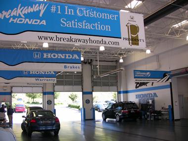 Breakaway honda honda service center dealership reviews for Honda dealership hours