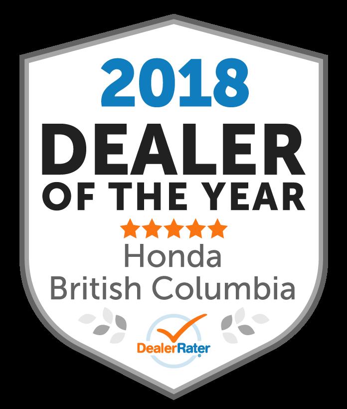 Top Honda Dealer in BC 2019