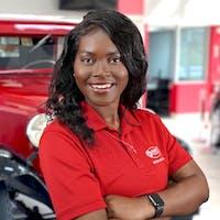 Danielle White at Bourne's Auto Center