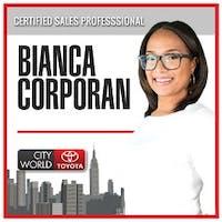 Bianca Corporan at City World Toyota
