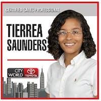 Tierrea Sanders at City World Toyota