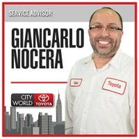 Giancarlo Nocera at City World Toyota - Service Center
