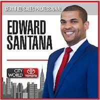 Edward Santana  at City World Toyota