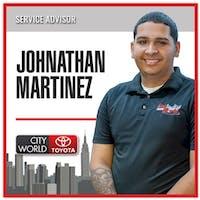 Jonathan Martinez at City World Toyota
