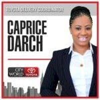 Caprice Darch at City World Toyota