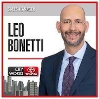 Leo Bonetti at City World Toyota