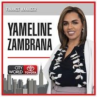 Yameline  Zambrana at City World Toyota
