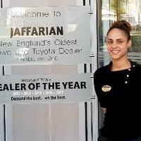 Maggie Paulino at Jaffarian Toyota