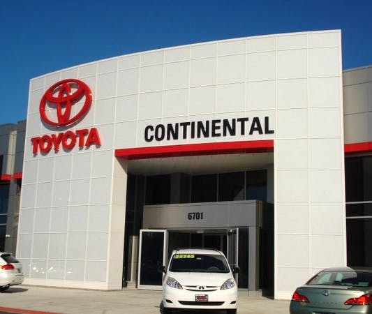 Continental Toyota Toyota Used Car Dealer Service Center Dealership Ratings