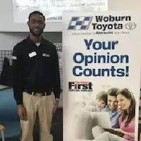 Wens  Mathurin at Woburn Toyota