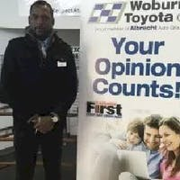 Chris  Ojatabu at Woburn Toyota