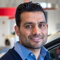 Nasir Mujaddadi at Leith Nissan