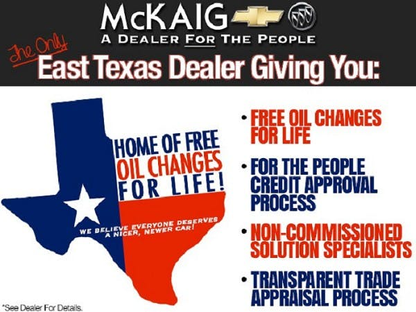 McKaig Chevrolet Buick - A Dealer For The People, Gladewater, TX, 75647