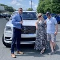 Brandon  Enos at Felix Sabates Ford Lincoln