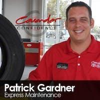 Patrick Gardner at Cavender Toyota