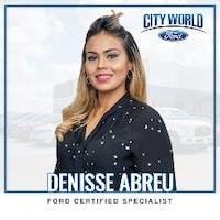 Denisse  Abreu  at City World Ford