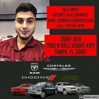 Billy Daher at Jerry Ulm Chrysler Dodge Jeep Ram