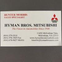 Hunter Morris at Hyman Brothers Automobiles Midlothian