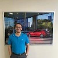 Orlando Cruz at Hyman Bros. Mazda