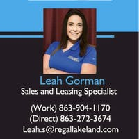 Leah Gorman at Regal Kia Lakeland