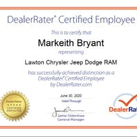 Markeith Bryant at Lawton Chrysler Jeep Dodge RAM