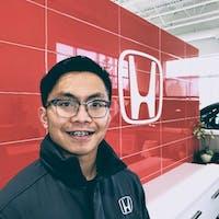 John Percia at Alberta Honda