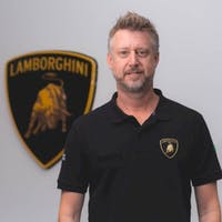 Brent  Ackerman at Lamborghini Palm Beach