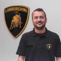 Chris Feltner at Lamborghini Palm Beach