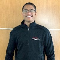 Quron Simms at Family Toyota of Arlington