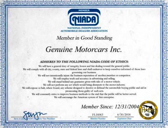 Genuine Motorcars Inc, St Petersburg, FL, 33713