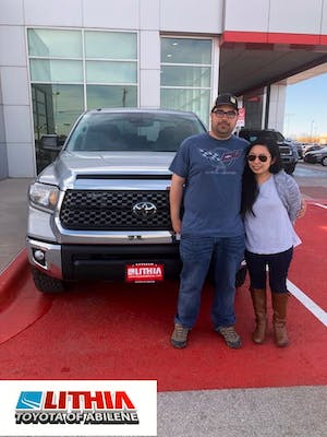 Great Had A Great Experience Purchasing A New Truck From Lithia Toyota Of Abilene.  All Of The Staff Were Friendly And Helpful. I Would Recommend Lithia Of  Toyota ...