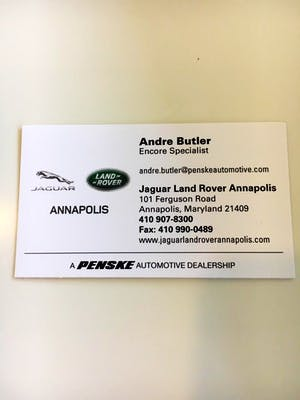 My Car Buying Experience Was Incredible. Frank Is An Incredible Salesman.  Very Professional. Amy Is Amazing. I Will ONLY Buy Cars From Land Rover  Annapolis.