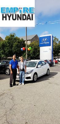 I Love The Car, Service Was Great Thanks To Ronnie And The Price Was  Excellent! I Would Recommend Empire Hyundai To Any One O Know. Thanks Again  Ronnie