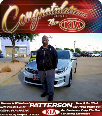 I Received A Call From Thomas Whitehead About Trading In My 2015 Optima For  A Newer Model Vehicle. I Was Happy To Receive The Call Because I Was Not  Very ...