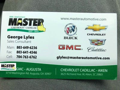 Master Chevrolet Cadillac Chevrolet Cadillac Service Center Dealership Ratings