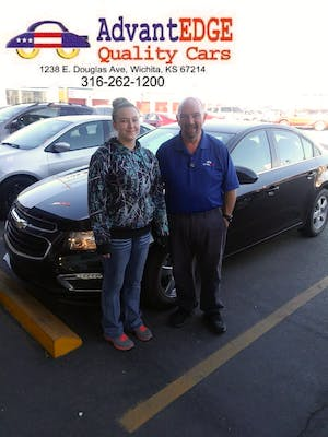 I would recommend advantage cars. The entire staff is very friendly, my salesman was Bo and he did an amazing job. I live 2 hrs away from Wichita he stayed ...